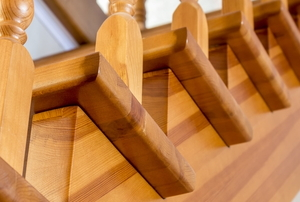 wooden stair stringer