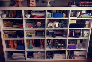Deep bookshelves