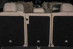 back row of seats in a car