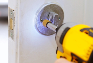 Installing a deadbolt into a door