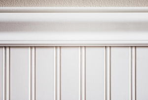 white beadboard wainscoting