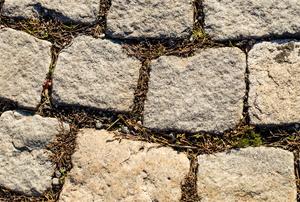 rough-edge paver stones