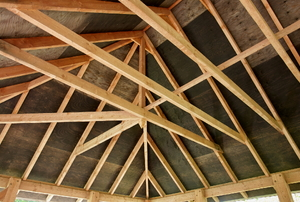 bare roof rafters