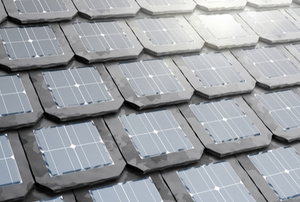 Shingles with solar panels