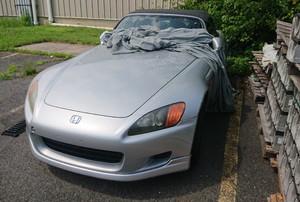 A grey car.