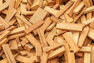 pile of scrap wood