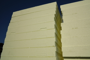 stacks of foam board insulation