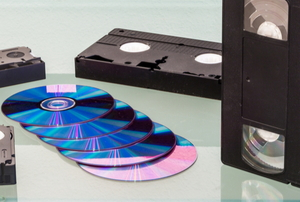 DVDs and VHS tapes