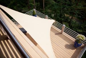 A deck awning.