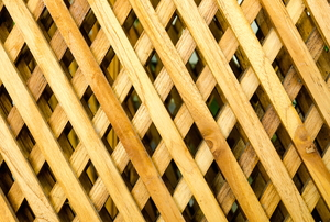 wood lattice panel