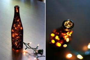 Wine bottle Christmas lights