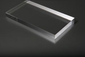 A block of plexiglass
