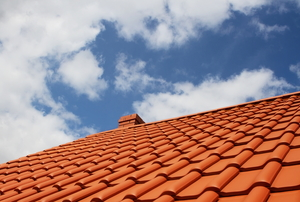 Red clay tile roof