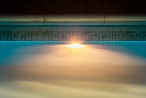 pool with light underwater
