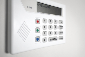 A key pad for your home security system.
