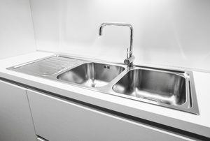 stainless steel sink and faucet