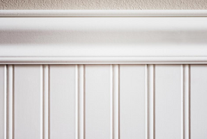 white beadboard on a wall
