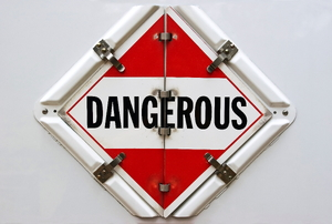 A sign that says dangerous.
