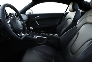Interior of a sports car