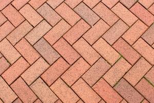 A brick walkway.