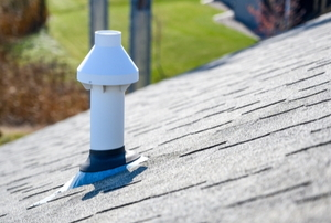 Roof with PVC chimney