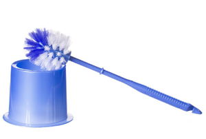 A toilet brush on a white background.