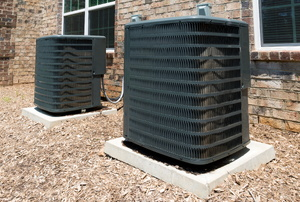 Outdoor AC units.
