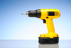 A yellow drill.