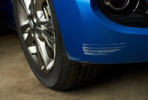 A scratched car.