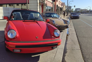 Two parked cars.