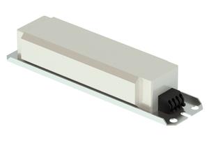 A white electronic ballast.
