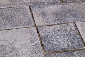 cement flagstones of different shapes