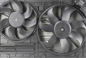 A radiator fan.