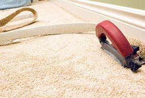 finishing off a carpet installation