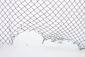damaged chain link fencing