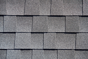 Shingles on a roof.