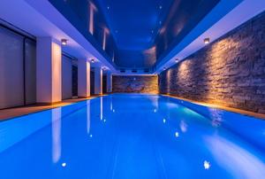 An indoor pool.