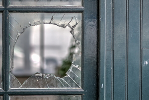 broken window pane