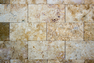 installed travertine tiles