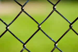 Close-up shot of a chain-link fence.