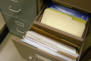 A filing cabinet.