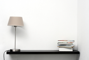 A floating wall shelf.