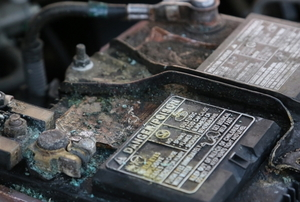corroded car battery