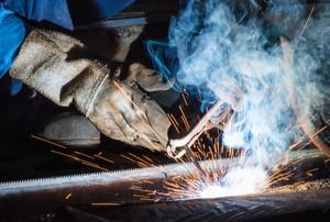 A man welding.