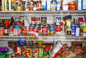 The inside of a pantry.