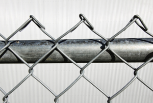 A section of chain link fencing