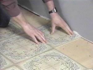 Self-Adhesive Vinyl Tiles 5 - Laying the Tiles | DoItYourself.com