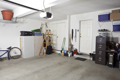 Garage With File Cabinets And A Few Other Belongings