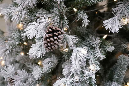 How to diy a flocked christmas tree doityourself a close up image of a flocked christmas tree solutioingenieria Images