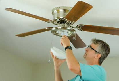 How to remove light fixture from ceiling fan